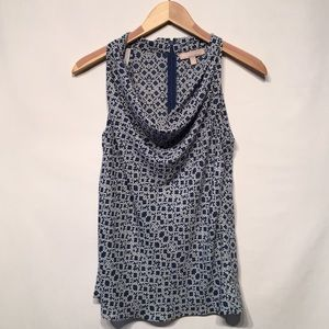 Banana Republic Draped Neck Sleeveless Blouse Sz 4